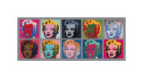 Ti Marilyn-er, ca. 1967 Giclee-trykk av Andy Warhol