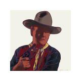 Cowboys and Indians: John Wayne, ca. 1986 Giclée-tryk af Andy Warhol