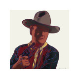Andy Warhol - Kovboylar ve Kızılderililer: John Wayne, c.1986 - Giclee Baskı