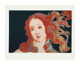 Details of Renaissance Paintings (Sandro Botticelli, Birth of Venus, 1482), c.1984 Giclee Print by Andy Warhol