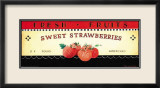 Fresh Fruits: Sweet Strawberries Kunst von Ria van de Velden