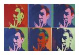 Andy Warhol - A Set of Six Self-Portraits, c.1967 Digitálně vytištěná reprodukce