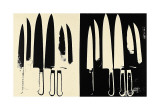 Knives, c.1981-82 (Cream and Black) Giclee Print by Andy Warhol