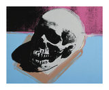 Skull, c.1976 (White on Blue and Pink) Giclée-Druck von Andy Warhol