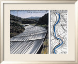 Over The River XI: Project for Arkansas River Affischer av Christo