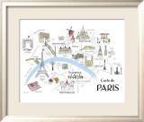 Map of Paris Poster by Alice Tait