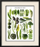 Green Vegetables Pósters
