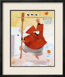 Papy Pechou au Basket Prints by Hubert Rublon
