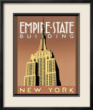 Empire State Building Art by Brian James