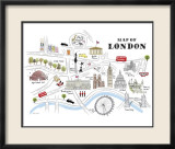 Map of London Posters by Alice Tait