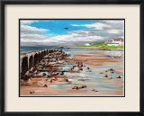 Low Flying over Lossiemouth West Beach Prints by Elise Ferguson