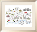 Map of London Prints by Alice Tait