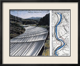 Over The River XI: Project for Arkansas River Planscher av Christo