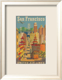 United Airlines: San Francisco, c.1950 Kunst von Stan Galli