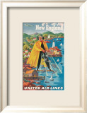 United Airlines, New England Poster von Joseph Feher
