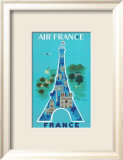 Air France: Eiffel Tower and Paris Monuments, c.1952 Plakater af Bernard Villemot