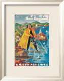 United Airlines, New England Gerahmter Gicl&#233;e-Druck von Joseph Feher
