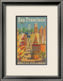 United Airlines: San Francisco, c.1950 Kunstdrucke von Stan Galli