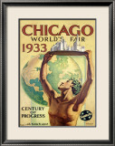 World&#39;s Fair, Chicago, c.1933 Gerahmter Gicl&#233;e-Druck von Hernando Villa