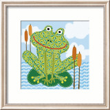 Frankie the Frog Art by Jessie Eckel