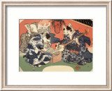 Singing Kimono Cats with Shamisen Prints by Daisuke Yamashina