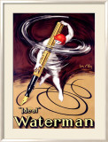 Waterman Ideal Fountain Pen Framed Giclee Print by Jean D' Ylen