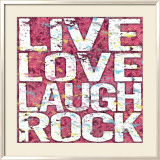 Live Love Laugh Rock Affiches par Louise Carey