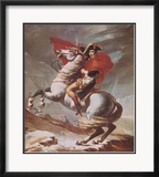 Napoleon on Horseback at the St. Bernard Pass Posters par Jacques-Louis David