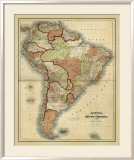 Antique Map of South America Prints by Alvin Johnson