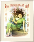 Shanghai Lady in Green Dress Posters