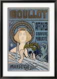 Moullot Framed Giclee Print by E. Roux