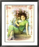 Shanghai Lady in Green Dress Juliste