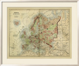 Antique Map of Europe Poster by Alvin Johnson