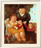 La Famiglia Poster by Fernando Botero