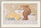 Still Life with Lemons I Poster by C. C. Wilson