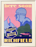 Richfield Advertising, c.1929 Framed Giclee Print