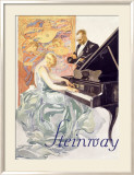 Steinway Gerahmter Gicl&#233;e-Druck von Werner Von Axster-Heudtlass