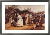 Wedding Procession Art by Samuel Luke Fildes