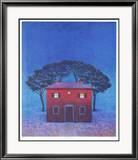 Haus in Arezzo - Blau Framed Photographic Print by Folkert Rasch