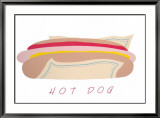 Hot Dog Print by Perry King