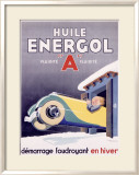Huile Energol Framed Giclee Print by Ren&#233; Vincent