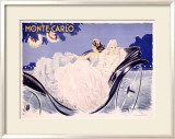 Monte Carlo Gerahmter Gicl&#233;e-Druck von Louis Icart