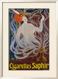 Cigarettes Saphir Framed Giclee Print by Stephano