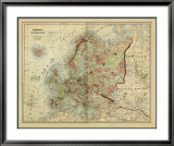 Antique Map of Europe Prints by Alvin Johnson