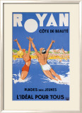 Royan, Cote de Beaute Indrammet giclee-tryk af Paul Ordner