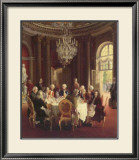 Die Tafelrunde Poster von Adolph Von Menzel