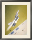 Aim for the Orange Babe Framed Giclee Print by Gerald Asher