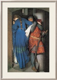 Meeting on the Turret Stairs Pósters por Frederick William Burton