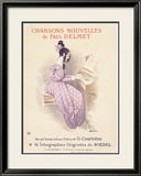 Chansons Nouvelles Piano Song Inramat gicletryck av Roedel