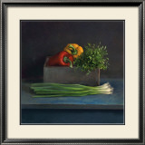 Still Life with Paprika Poster von Van Riswick 
